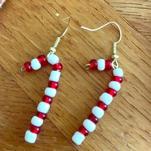 Handmade Candy Cane Earrings!